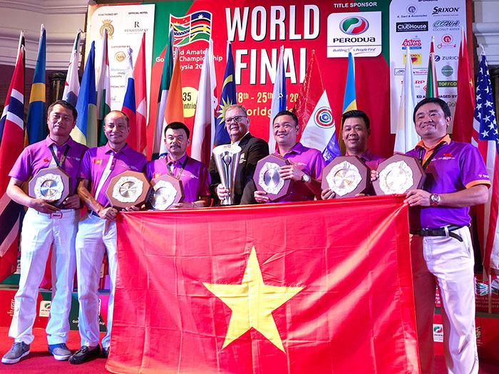 Tuyển golf Việt Nam vô địch thế giới tại giải WAGC 2017