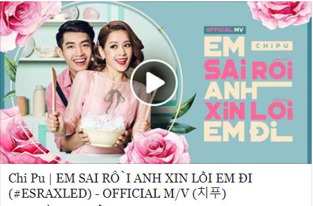Bất chấp dư luận, Chi Pu lại tiếp tục ra MV 'Em sai rồi anh xin lỗi em đi'