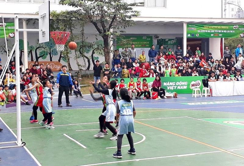 Kết thúc giải bóng rổ học sinh tiểu học Hà Nội 2017