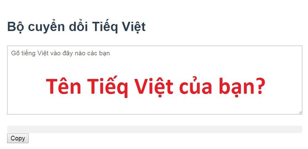 Tiếng Việt,Chuyển đổi Tiếng Việt