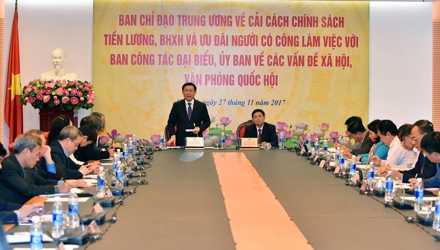 lương,cải cách tiền lương,Vương Đình Huệ,Phó thủ tướng Vương Đình Huệ