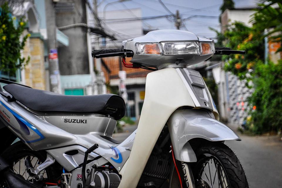 Suzuki 'xì po' độ 200 triệu tiền đồ chơi tại Cần Thơ