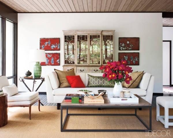 Bí quyết giúp phòng khách đẹp ấn tượng với sofa trắng