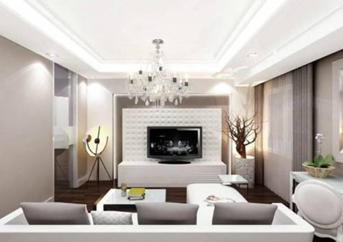 nhà đẹp,trang trí phòng khách,đèn chùm