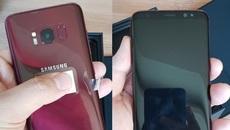 Hình ảnh về phiên bản đỏ Burgundy tuyệt đẹp của Galaxy S8