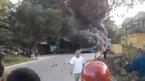 4 ô tô tông nhau, bốc cháy ngùn ngụt