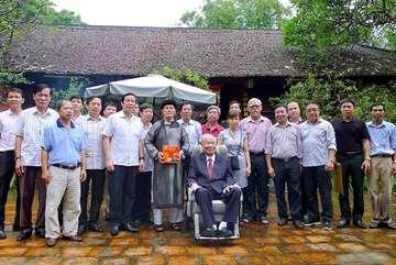 Kỷ niệm hai lần đón Đại tướng Lê Đức Anh về làng cổ Đường Lâm