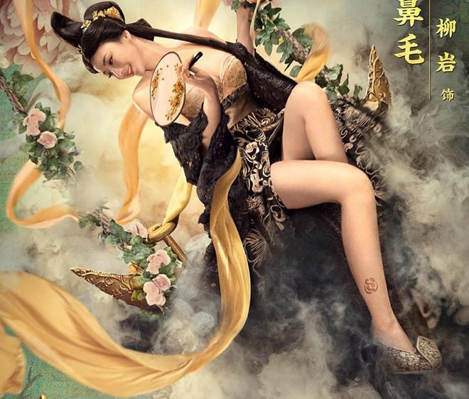 Phim cổ trang 'Kỳ môn độn giáp' tranh cãi vì ảnh mỹ nữ hở hang