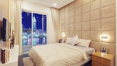 Nội thất phòng ngủ màu xanh đầy ấn tượng