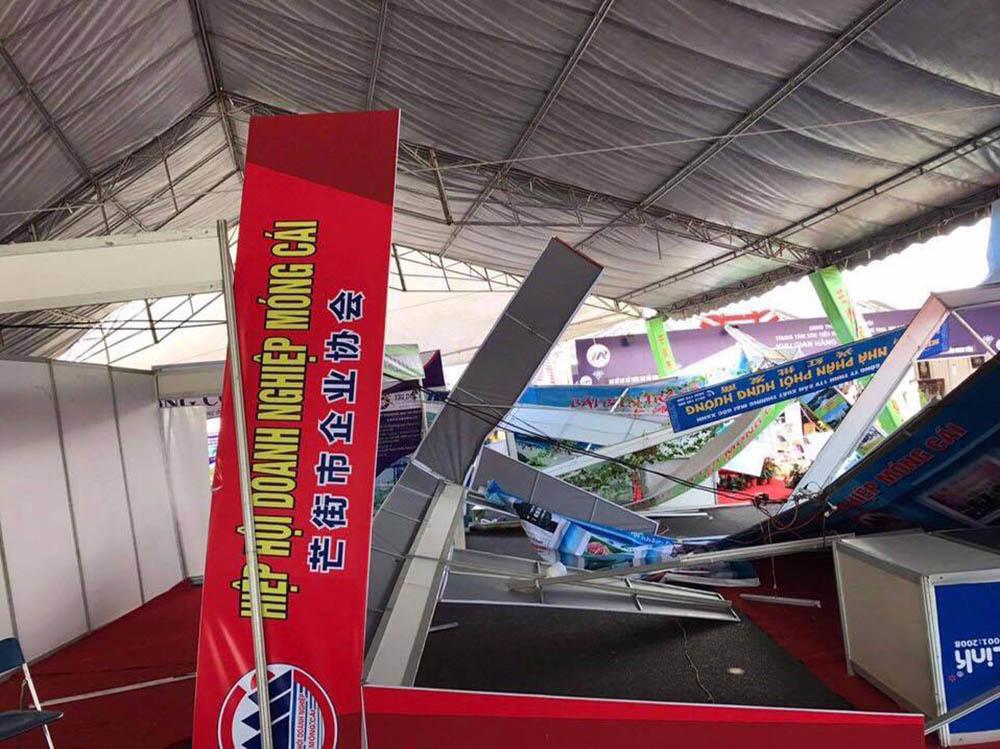 lốc xoáy,Quảng Ninh,hội chợ quốc tế