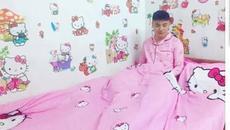 Nam sinh được mệnh danh 'Hồng công chúa' vì quá thích Hello Kitty