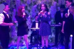 Thu Trang, Diệu Nhi hát trong đám cưới Vinh Râu