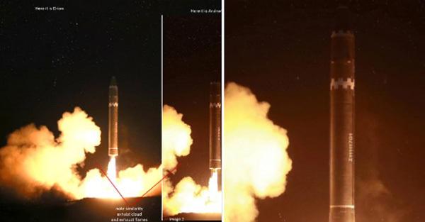 Điều kỳ lạ trong bức ảnh Triều Tiên phóng tên lửa