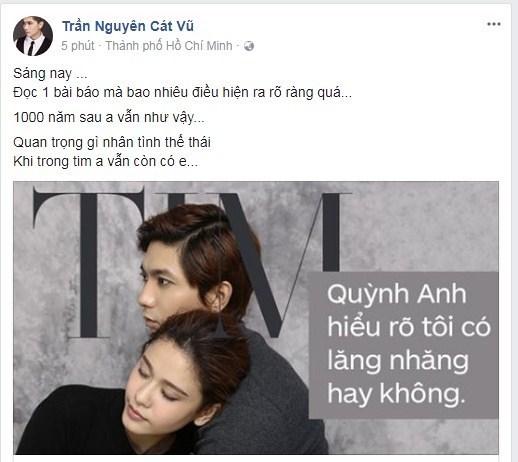 Phản ứng đầu tiên của Tim về ảnh thân mật của Trương Quỳnh Anh và Bình Minh