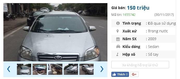 Với 150 triệu, bạn mua được ô tô cũ chính hãng nào?