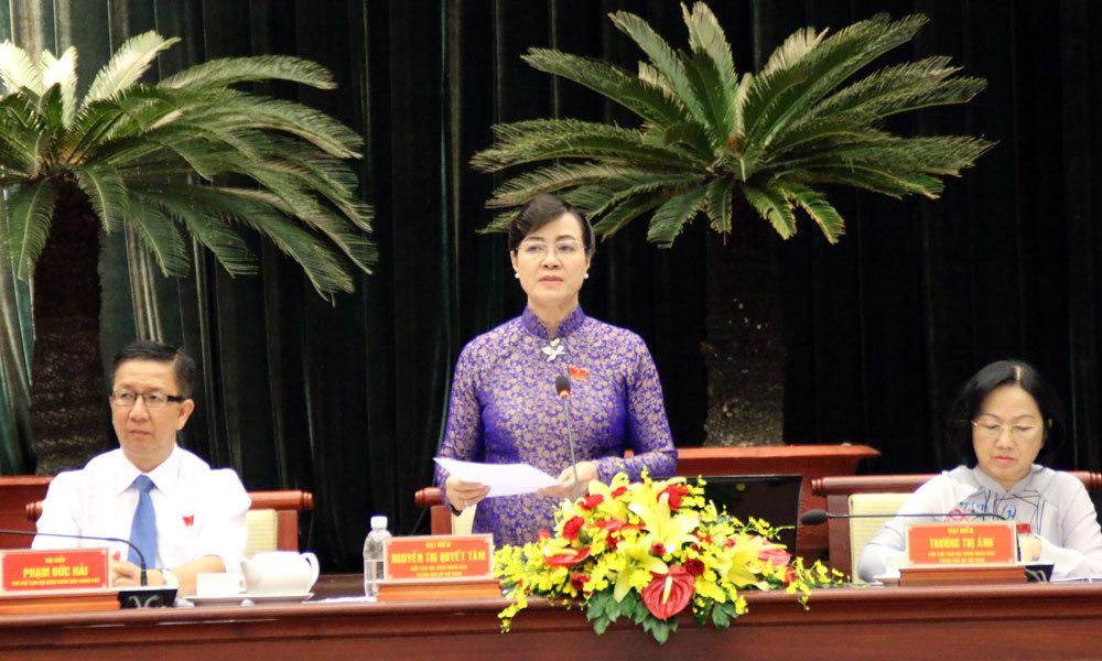 trả lời chất vấn,bạo hành trẻ em,thu thuế facebok,Nguyễn Thành Phong,HĐND.TPHCM,trường Mâm Xanh
