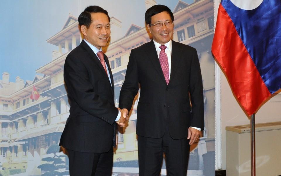 Lào,Việt-Lào,Phó Thủ tướng Phạm Bình Minh