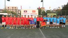 Giao lưu bóng đá chào mừng năm đoàn kết hữu nghị Việt Nam-Lào 2017