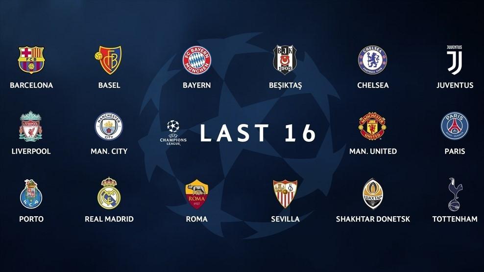 Danh sách 16 đội đoạt vé vào vòng knock-out Champions League