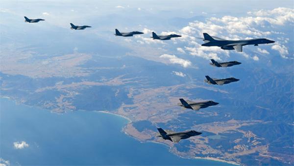 Mỹ Hàn tập trận,Triều Tiên,cảnh báo chiến tranh,chiến cơ Mỹ