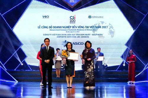 SASCO vào Top 10 DN bền vững khối thương mại dịch vụ