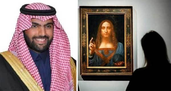 kiệt tác hội họa,danh họa,Da Vinci,hoàng thân Ả rập