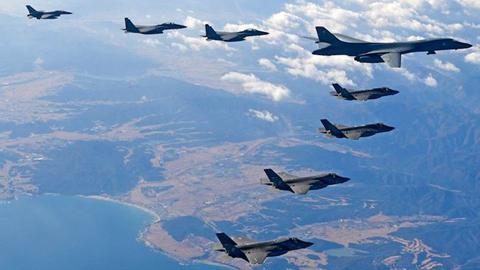 Triều Tiên,Mỹ,tình hình Triều Tiên,tập trận Mỹ Hàn,chiến đấu cơ