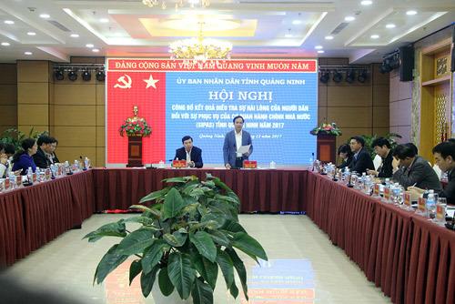 Công bố chỉ số hài lòng của người dân Quảng Ninh