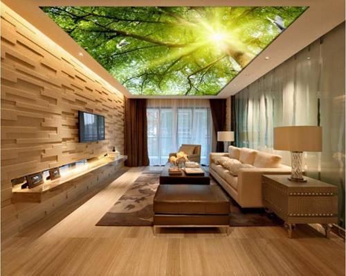 Sàn nhà 3D đã đẹp rồi, giờ có trần nhà 3D còn đẹp kinh ngạc hơn nữa