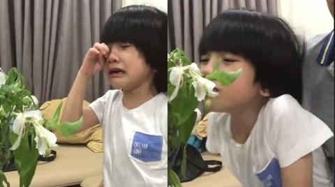 Đau lòng nhìn hoa bị héo, con trai Duy Mạnh bật khóc nức nở