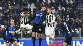 Juventus và Inter bất phân thắng bại ở vòng 16 Serie A