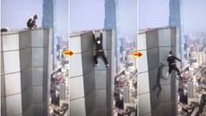 Khoảnh khắc diễn viên võ thuật rơi từ tầng 62