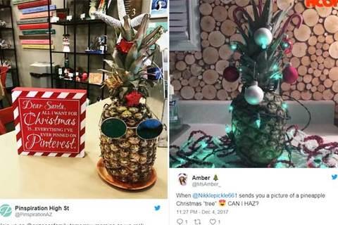 Thay thế cây thông Giáng sinh bằng quả dứa