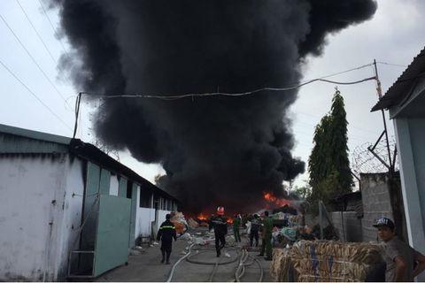 Cháy lớn ở Vũng Tàu