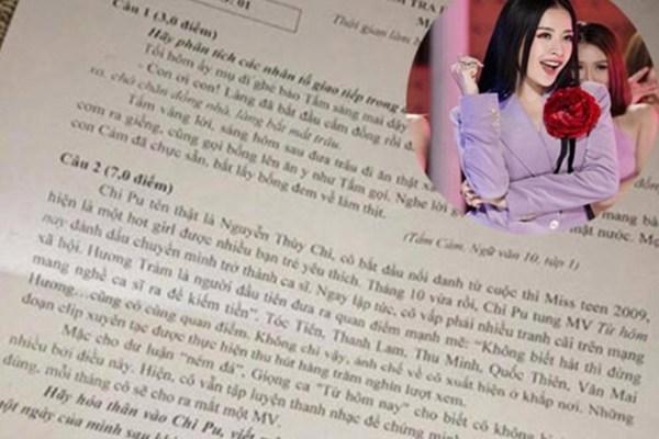Chi Pu,Sơn Tùng M-TP,Đề thi Ngữ văn,Môn Văn,Lạc trôi
