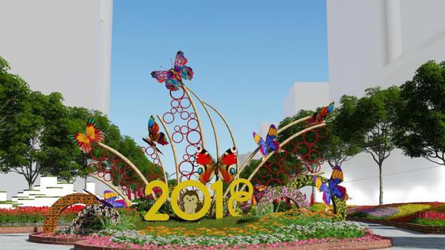 Công bố linh vật đường hoa Nguyễn Huệ Tết Mậu Tuất 2018