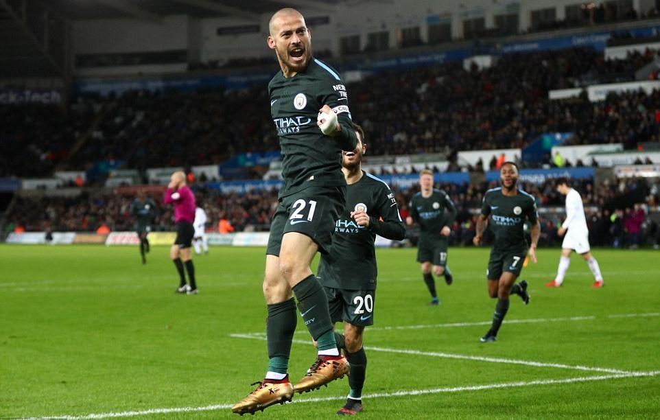 Man City,Swansea,Pep Guardiola,Kết quả bóng đá