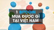 Một Bitcoin có thể mua được gì ở Việt Nam?