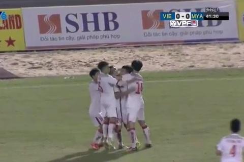 U21 Việt Nam 1-0 U21 Myanmar: Hoàng Đức mở tỷ số