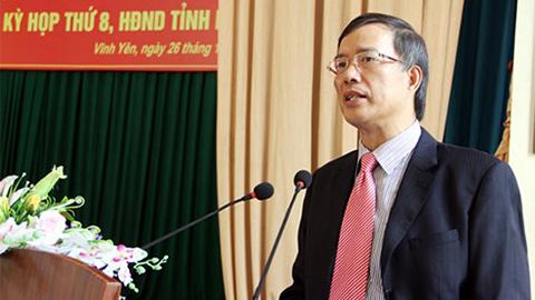 Cách chức nguyên Bí thư Vĩnh Phúc với ông Phạm Văn Vọng