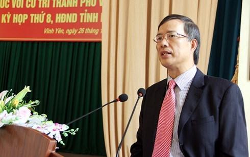 Vĩnh Phúc,Phạm Văn Vọng,cách chức