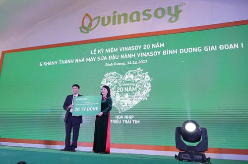 Kỷ niệm 20 năm, Vinasoy khánh thành nhà máy tại Bình Dương