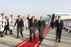 Tổng bí thư, Chủ tịch nước Lào bắt đầu thăm chính thức Việt Nam