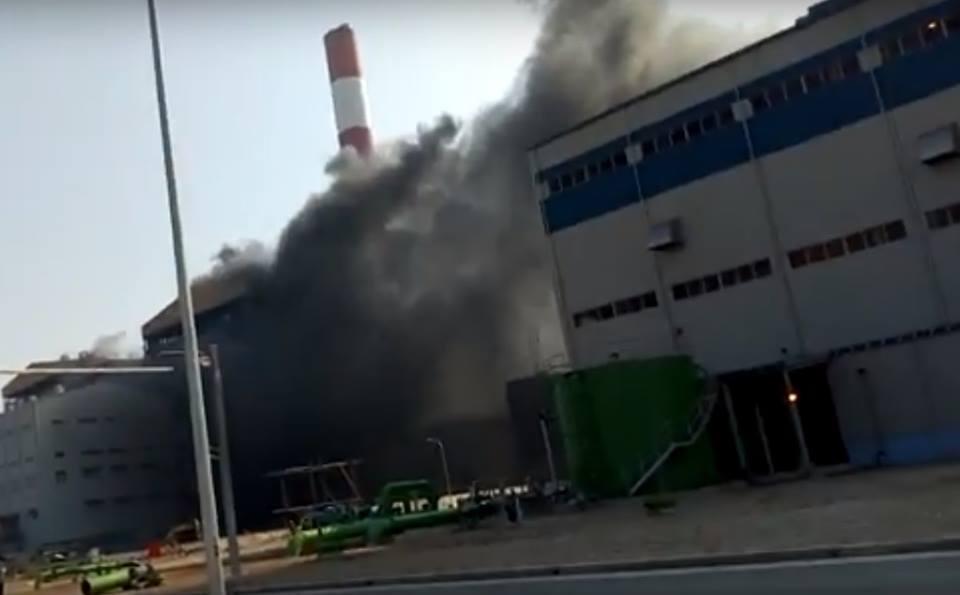 Cháy lớn tại nhà máy nhiệt điện Thái Bình 2