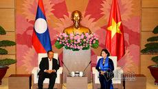 Chủ tịch Quốc hội hội kiến Tổng bí thư, Chủ tịch nước Lào