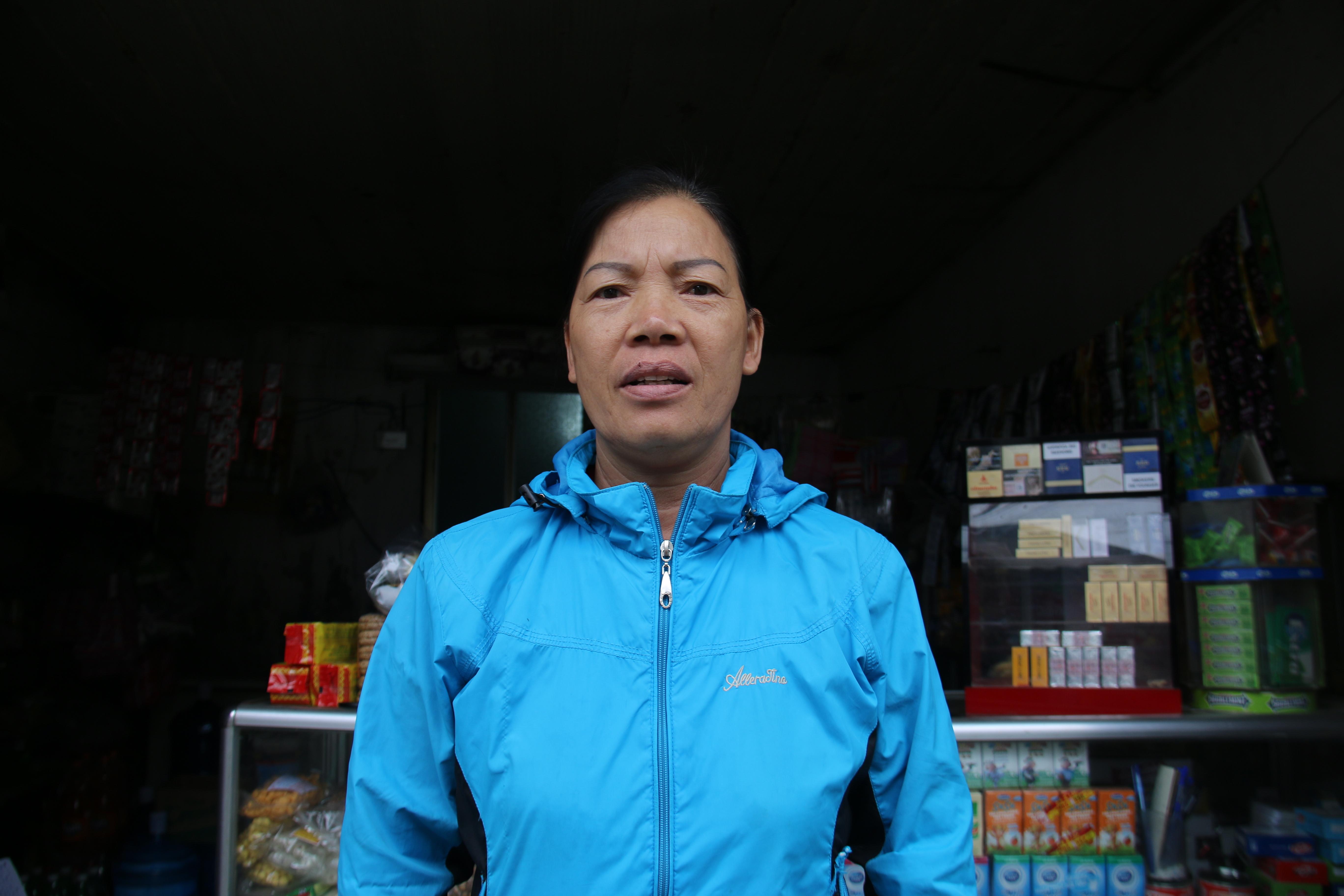 Bà Phan Thị Gái (SN 1965), Phó chi hội phụ nữ thôn Hậu. Ảnh: Ngọc Trang