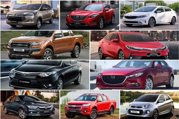Dự đoán top 10 xe ô tô bán chạy nhất Việt Nam năm 2017