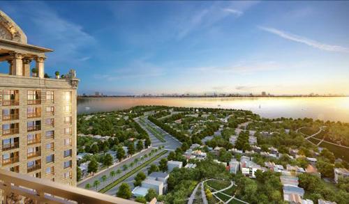 Tầm nhìn khoáng đạt từ căn hộ đẳng cấp Tây Hồ