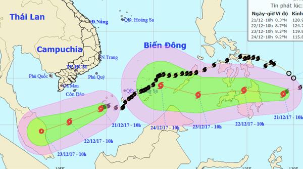 Bão cũ chưa tan, biển Đông chuẩn bị hứng bão số 16