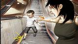 Cẩn trọng với con trẻ khi đi thang cuốn